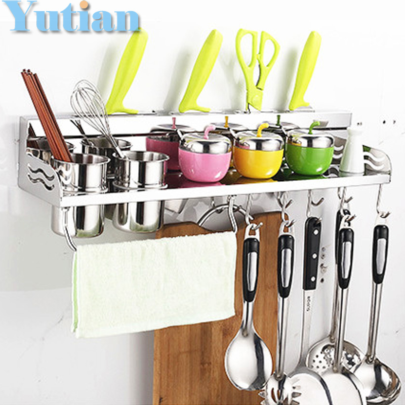 Kitchen Wall Accessories Stainless Steel: Kitchen Storage Holders & Racks Kitchen Shelf Holder Tool
