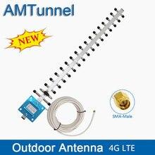 WIFI antenne 4G LTE antenne SMA männlich WIFI directional antenne 20dBi 4G Router antenne 2500-2700Mhz mit 10m für router