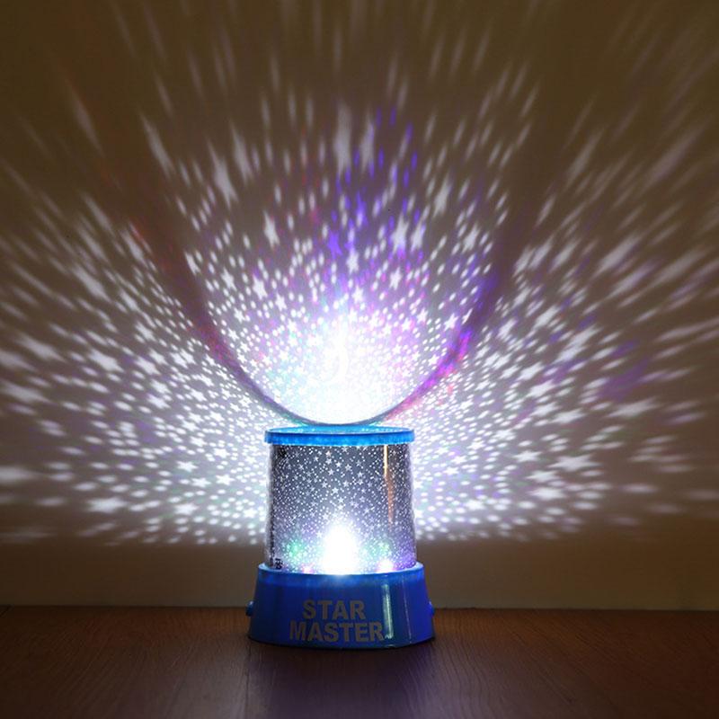 LED USB Star Light Sleep Romantic Starry Night Sky Projector Cosmos Lamp Kids