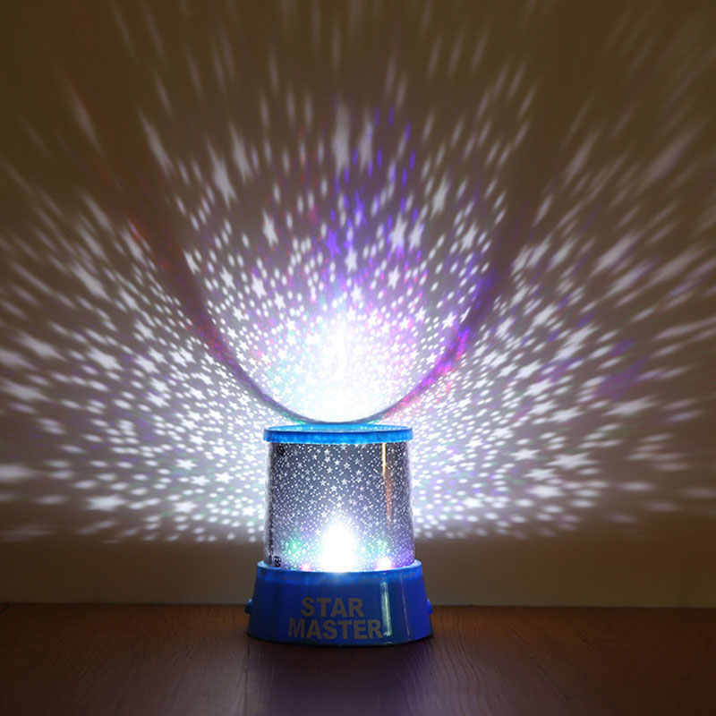 Led Night Light Projector Starry Sky Star Moon Master Children Kids Baby Sleep Colorful Usb Projection Lamp