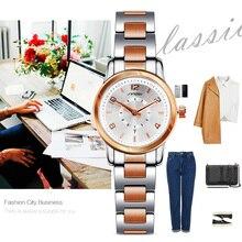 SINOBI Mode Femmes Montres Or Bracelet Top Marque De Luxe Dames Horloge À Quartz Femme Bracelet montre Montres Femmes