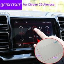 QCBXYYXH автомобильный стиль gps Навигация экран стекло защитная пленка для Citroen C5 Aircross навигация Защита от царапин пленка