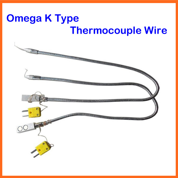 Original Omega K Type Thermocouple Wire sensor with Magnetic Holder, for bga rework machine, bga repair thermocouple spot welding machine tl weld metal ball lotus wire feeder thermocouple welding