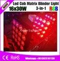 16 головок матрица 30 Вт RGB 3 в 1 COB Led Par свет хороший настенный эффект