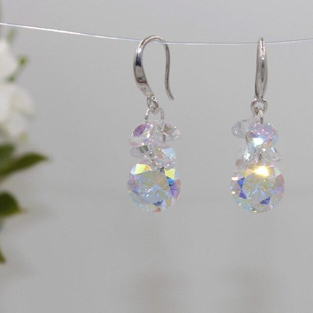 Лидер продаж 2018 модные серьги с кристаллами в семи цветах
