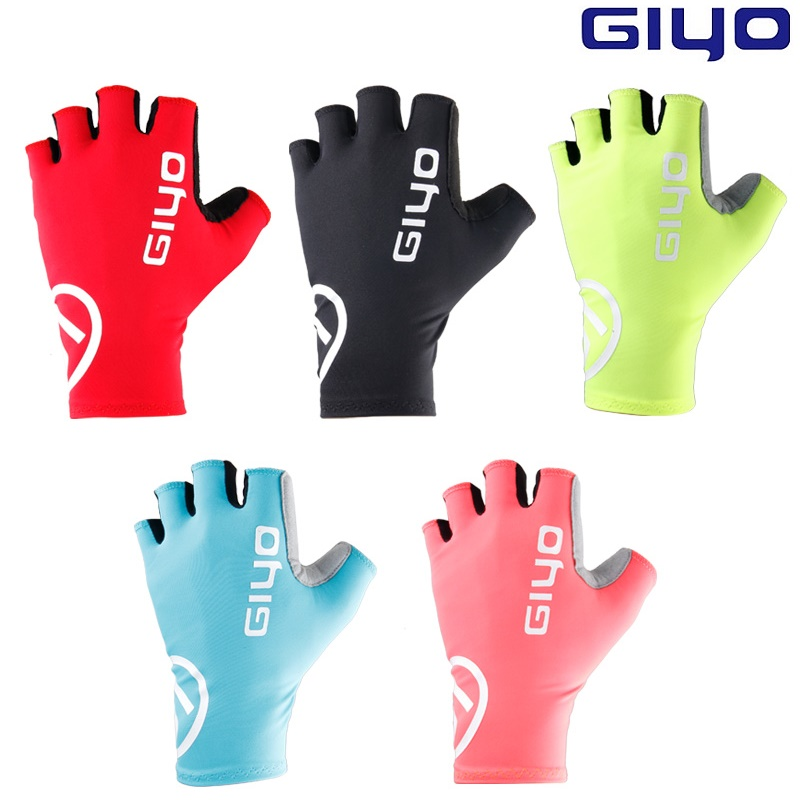 Giyo Breaking Wind Cycling Half Finger Gloves Anti-slip Bicycle Mittens Racing Road Bike Glove MTB Biciclet Guantes Ciclismo racmmer cycling gloves guantes ciclismo non slip breathable mens
