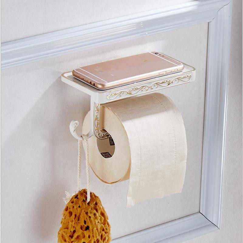 Retro uchwyt na ręcznik papierowy Continental rzeźbione apartament typu Suite akcesoria łazienkowe papier toaletowy uchwyt na