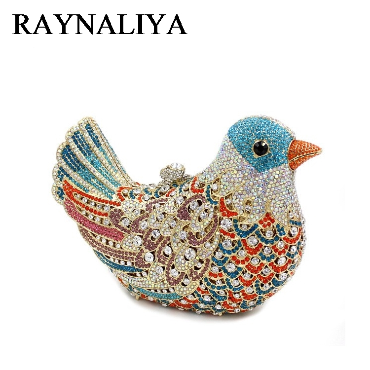 Luxury Handcraft Diamond Crystal Evening Bags Rhinestone Animal Bird Clutch Bag For Party Lady Bling Wedding Purse ZH-A0234 women luxury rhinestone clutch evening handbag ladies crystal wedding purses dinner party bag bird flower purse zh a0296
