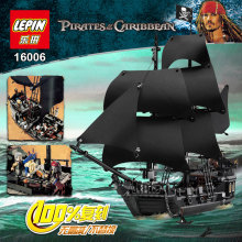 804Pcs LEPIN 16006 Pirates Of The Caribbean The Black Pearl Ship Model Building Kit Minifigure Blocks BricksToy Compatible Legoe