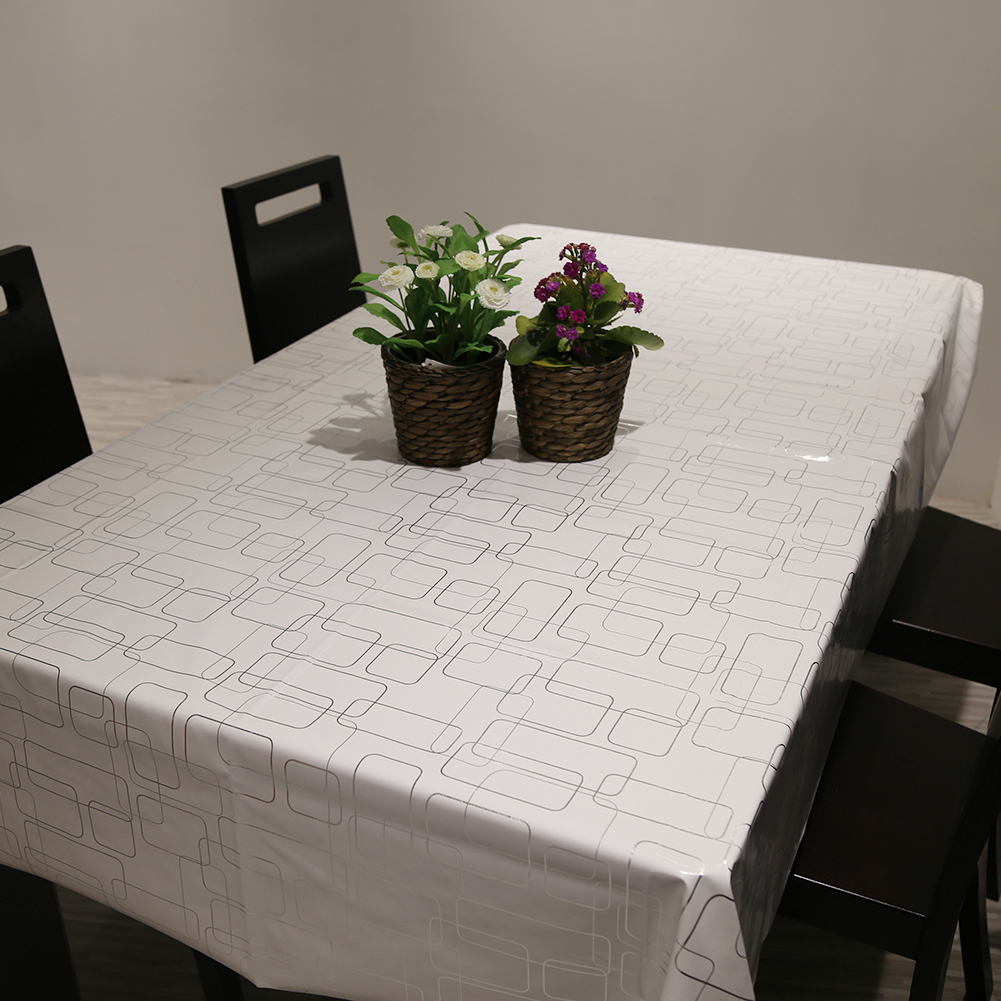 1Pcs PVC Simple Modern Table Cloth Rectangular Waterproof Oil Resistance Non Wash Houdehold Mat Dining Tablecloth 6 sizes