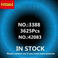 В наличии DHL Хирон автомобиля bugattied 3625 шт гонки DECOOL 3388 модель строительные блоки кирпичи техническая игрушка Совместимость legoings 42083