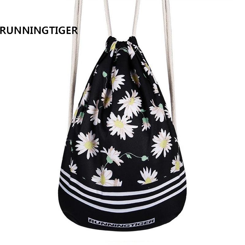 4563e14ed3b2 Новые модные Для женщин 3D печать рюкзак softback дамы Mochila рюкзак  drawstring холст школьная для девочек-подростков школьная сумка брендов