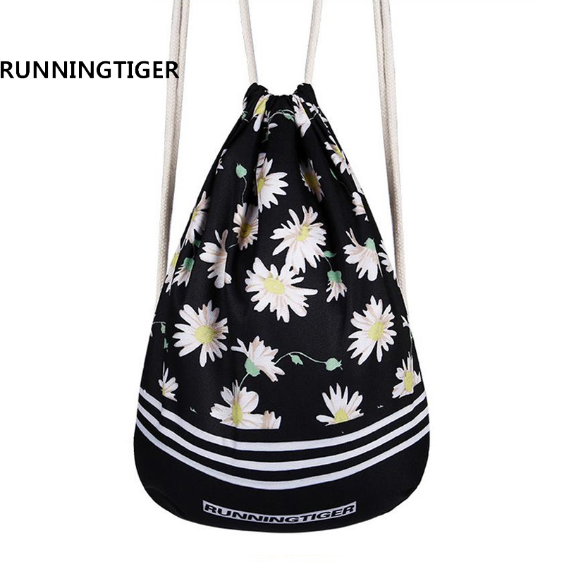 3D Printing Backpack Softback Ladies Mochila Drawstring Backpack Canvas School Teenage Girls School Bag Brands