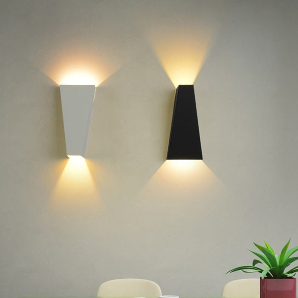 artistic lighting. Trapezoid LED Wall Lamp Aluminum Modern Creative Light For Living Room Balcony Corridor Bedroom Garden Artistic Lights-in Indoor Lamps From Lighting