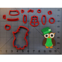 Cute Owl Cookie Cutter Set Fondant Cupcake Top Mould Made 3D Printed Cake Decoration Tools Biscuit Cutter Cookie Cutters