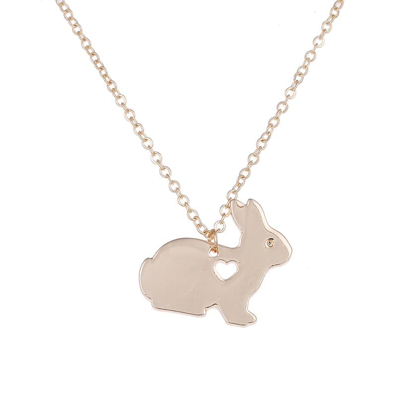Animal Rabbit Necklace Easter Basket Pet Bunny Pendant Charms