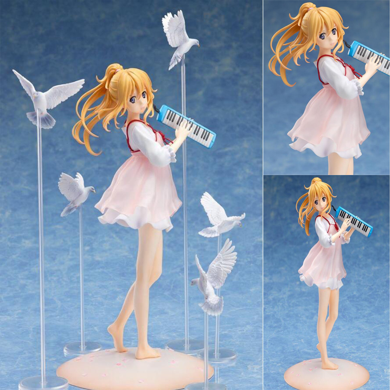 Miyazono Kaori Your Lie in April 20cm anime action model collection figures painted toys Christmas gift with box Miyazono Kaori Your Lie in April 20cm anime action model collection figures painted toys Christmas gift with box
