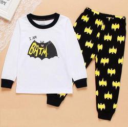 Novo Projeto Dos Desenhos Animados Em Torno Do Pescoço da Criança crianças de manga comprida pijamas Meninos Algodão Pijamas Set Para Meninas Meninos Pijamas 2 ~ 7 Ano