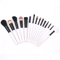 BBL 15pcs White Makeup Brushes Set Professional Face Powder Foundation Brush Eye Eyeshadow Brush Cosmetics Beauty Essentials