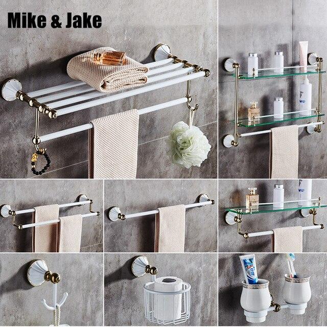 Vente pas chère Or blanc salle de bain accessoire serviette ...