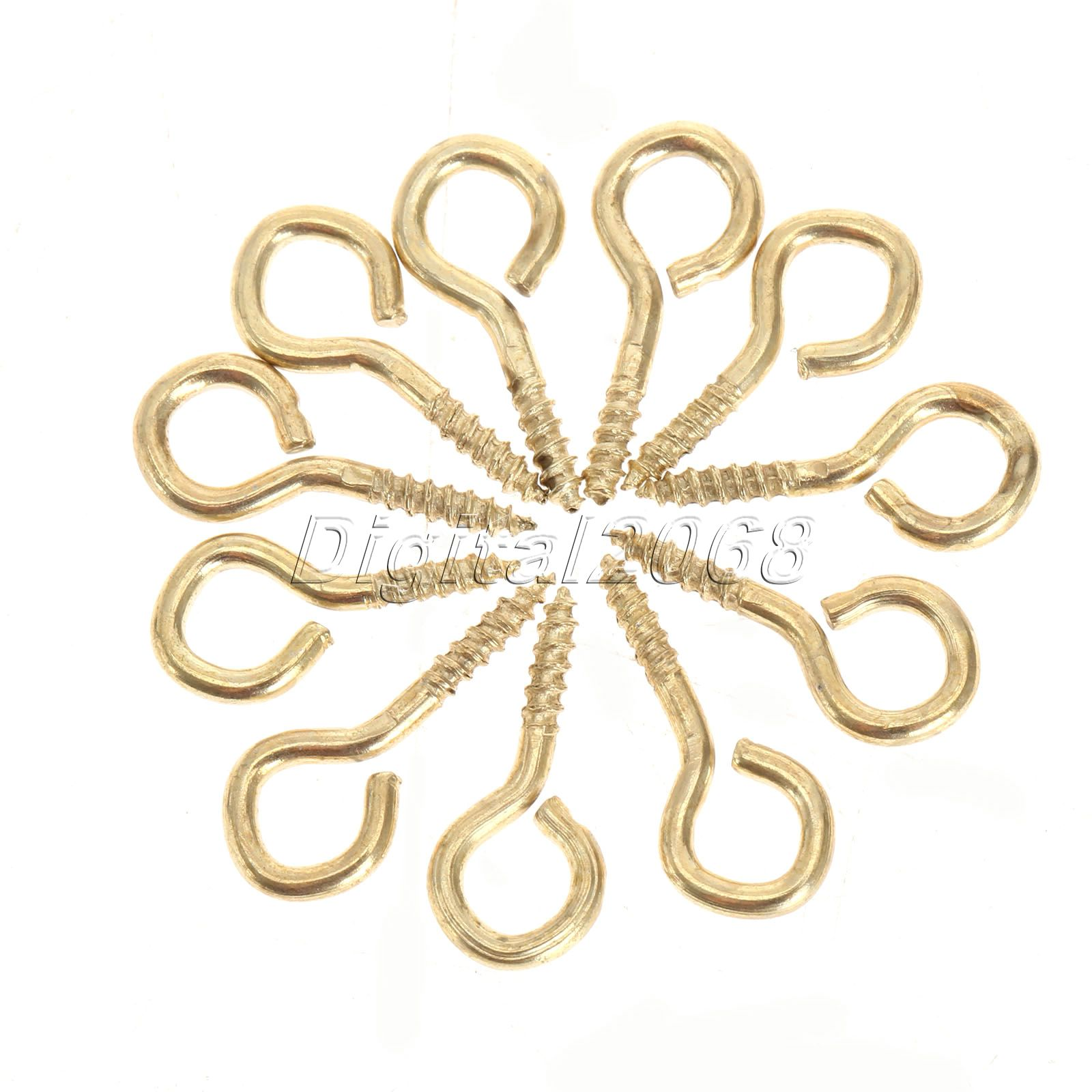 600pcs 13 x 6mm Mini Metal Screw Eye Pins Hooks Eyelet Screws Tiny Threaded Pins for Jewelry Making DIY Crafts