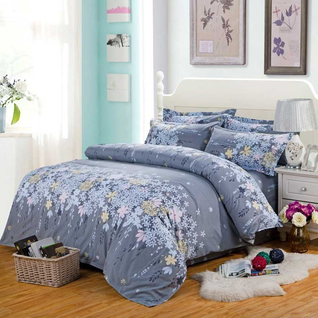2017 Hot Sales Duvet Cover Polyester Bedding Sets Active Printing Bedding  Set 3pcs/4pcs Bed