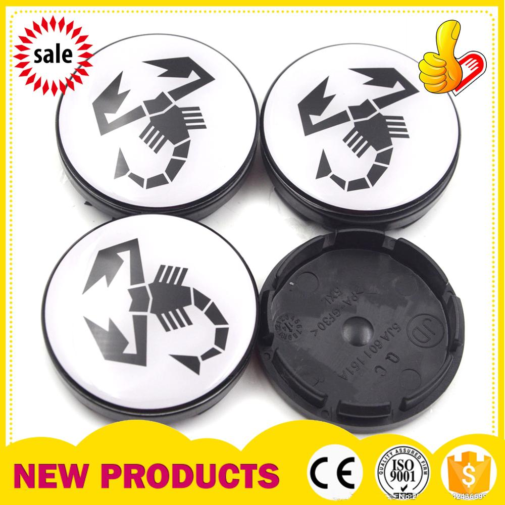 4pcs/lot 56mm black Scorption Logo <font><b>Car</b></font> <font><b>Wheel</b></font> <font><b>Hub</b></font> <font><b>Center</b></font> <font><b>Cap</b></font> Cover Rim Badge Covers For <font><b>Skoda</b></font> Octavia Fabia Superb 5JA601151A image
