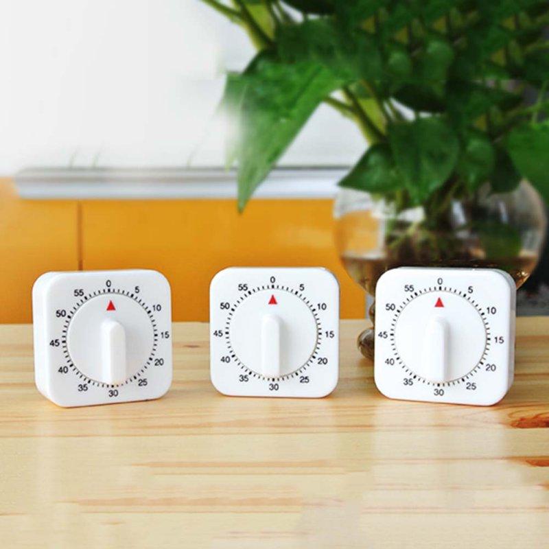Neue Ankunft Neuheit Weiß Platz 60-minuten Mechanische Timer Erinnerung Zählen Für Küche Messung Und Analyse Instrumente