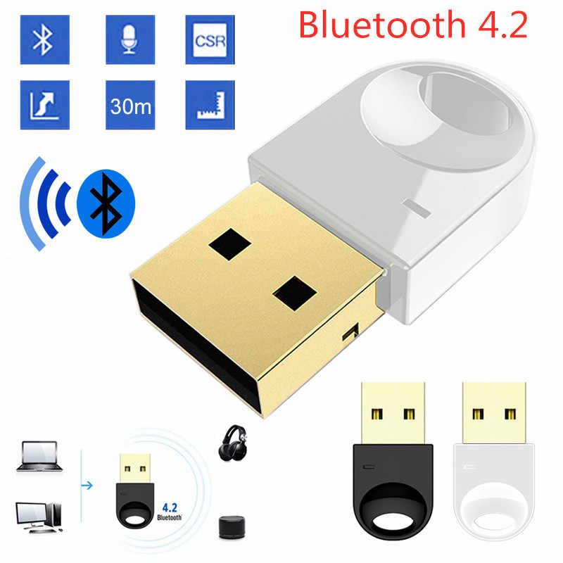 Wireless USB Bluetooth Adapter 4.2 Bluetooth Dongle Music Sound Receiver Bluetooth Transmitter For Computer PC Laptop DeskTop