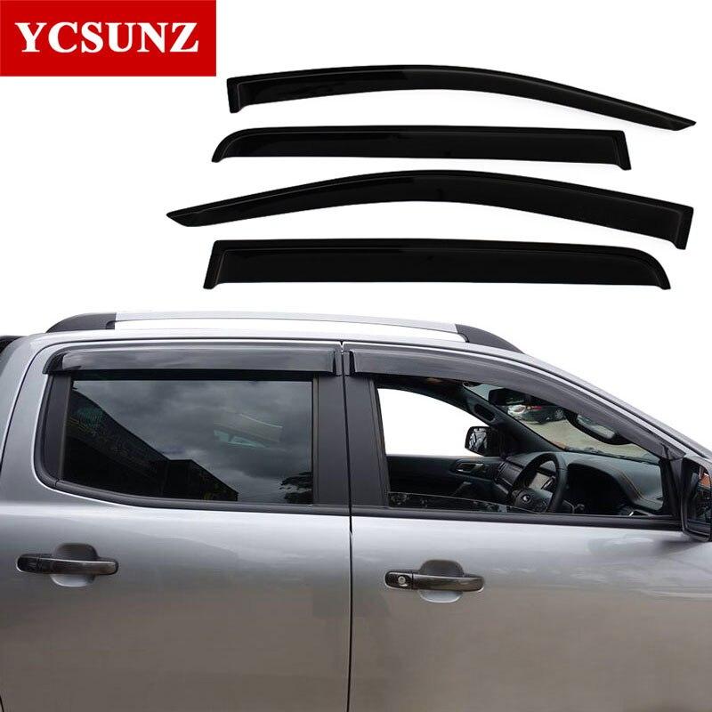 Déflecteurs de fenêtre latérale visière pour Ford Ranger T6 T7 T8 Wildtrak 2012-2019 Double cabine - 3