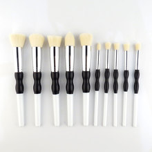 Cosmetic Tool Face Foundation Brush For Make Up Beauty Essentials 10Pcs Professional Eye Shadow Powder Blusher Brush Kit