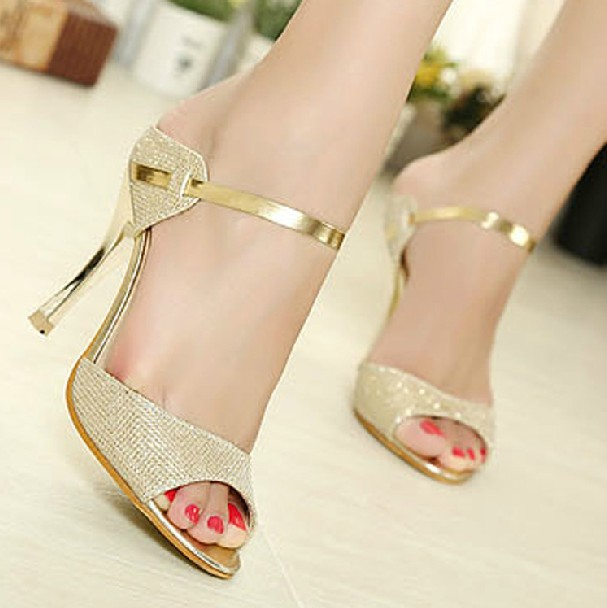 53837e486d34d Drop Ship Free Shipping Ladies Fashion Sexy Evening high heels Shoes  white golden Colour Party Pumps Shoes Size 35 39 478-in Women s Pumps from  Shoes on ...