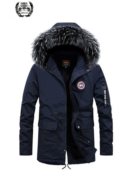 Best Price 2019 New Men's Winter Casual Warm Coats Thicken Down Parkas Medium Long Fake Fur Collar Solid Color High Quality Men Jacket Coat