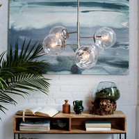 Nordic Molecule Glass Ball Bedroom Pendant Light Personality Bubble Bar Stair Dining Room Light Fixtures With light Bulbs