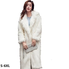 New NATURAL FUR COAT Korean imitation fox fur coat long section faux coats women wild fashion Faux
