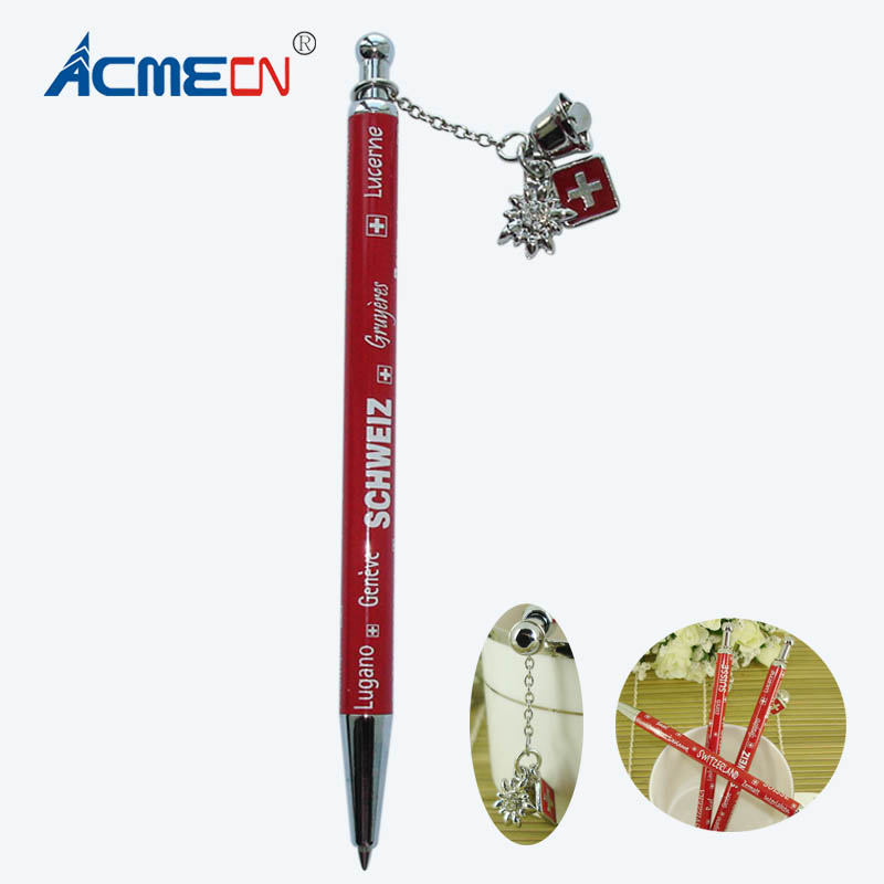 все цены на ACMECN Pens Ballpoint Switzerland Element Cute Pen with Pendant Cute Ball pen Back to School Students Writing Instruments Gifts онлайн