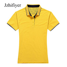 Jzhifiyer polo shirts cotton 190G solid women mens slim polo shirts  short-sleeve summer plain shirts top polos mujer 7color