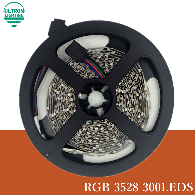 5M 300Leds RGB Led Strip Light 3528 DC12V 60Leds/M Flexible Lighting String With 24keys IR Remote Controller LED strip rgb tape