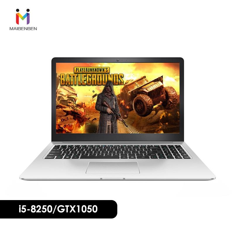 Ultra-slim Office Laptop MAIBENBEN DAMAI 6S 15.6 i5-8250U/8G/PCI-E 256G SSD/NVIDIA GTX1050 4G/DOS/Silver Bussiness Computer