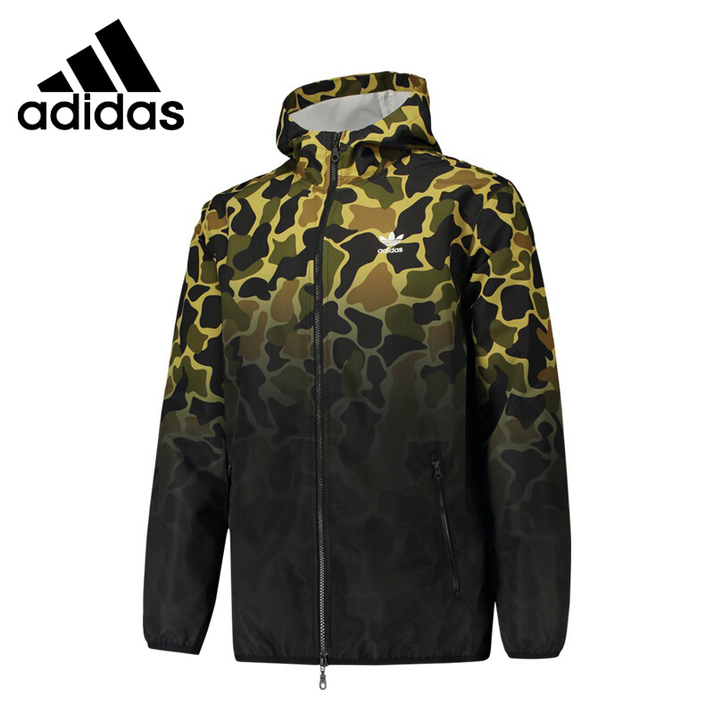 Original New Arrival 2018 Adidas Original Camo WB Men's  jacket Hooded Sportswear original new arrival official adidas neo men s windproof jacket hooded sportswear