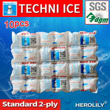 herolily techni ice 10pcs Gel Ice Pack /Cooler Bag For Food Storage, Picnic, Ice Bag 24