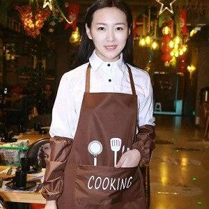 Image 5 - Nữ Nước Dầu Chống Tạp Dề Nhà Bếp Điện Tạp Dề Nhà Hàng Nấu Nướng Đầm Tạp Dề Thời Trang Có Túi