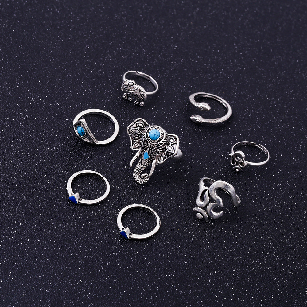 HTB18p13RVXXXXc6XpXXq6xXFXXXO Fashionable 8-Pieces Boho Retro Spirituality Symbols Stackable Midi Ring Set