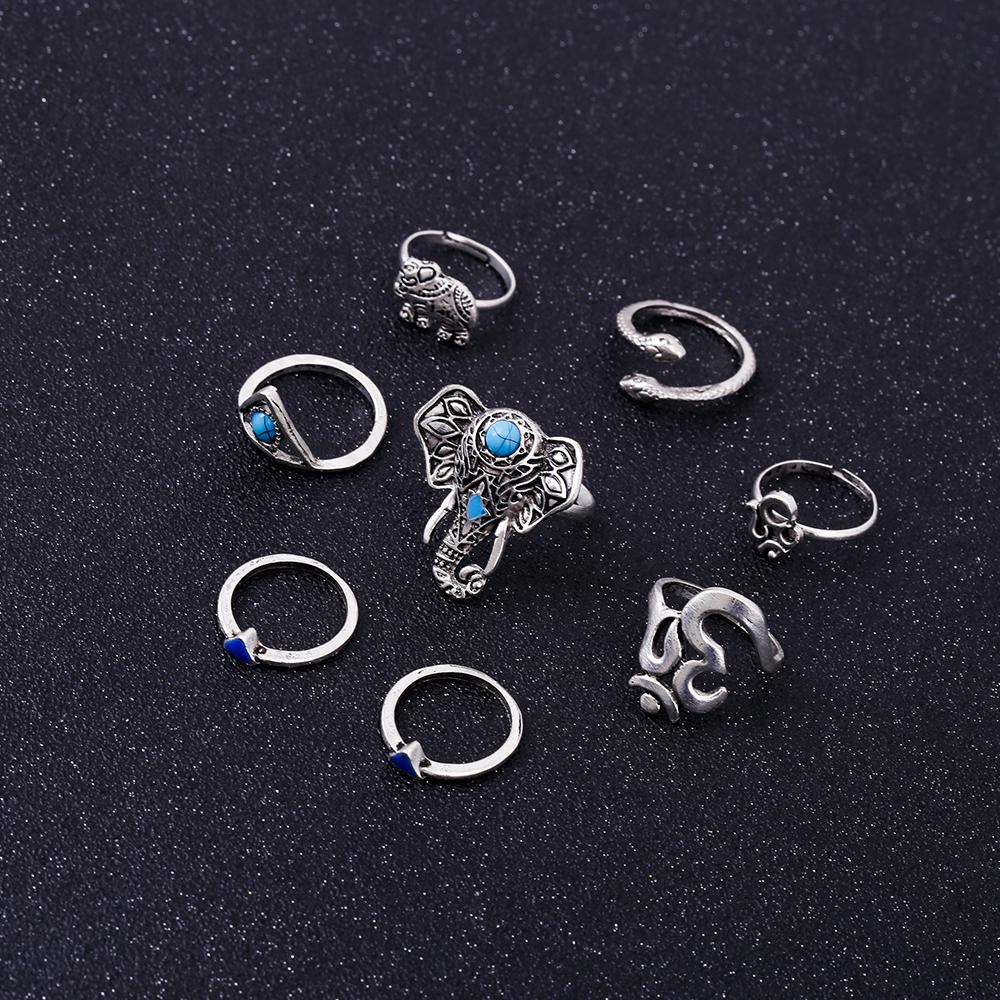 HTB18p13RVXXXXc6XpXXq6xXFXXXO Fashionable 8-Pieces Boho Retro Spirituality Symbols Stackable Midi Ring Set