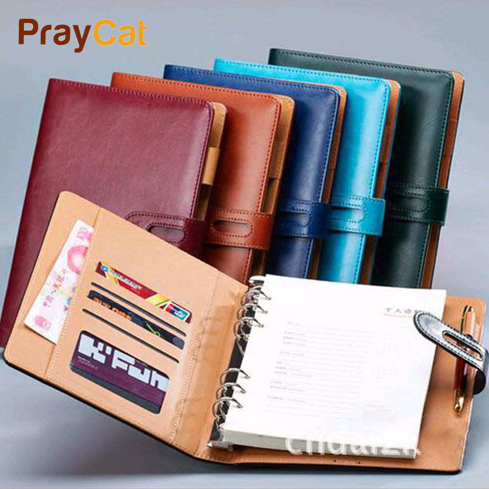 A5 A6 B5 A4 Spiral Notebook Dokibook Vintage Leather Notebook Diary Week Agenda Organizer Planner Notepad Office Stationery