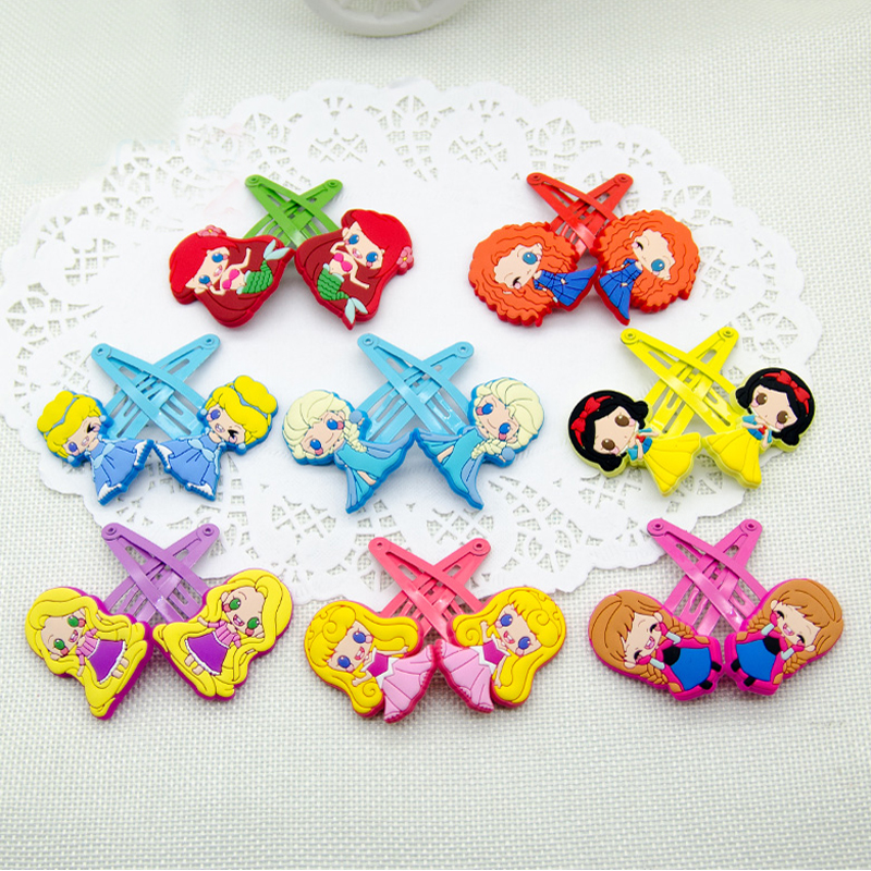 Lovely Snow White  Sofia Anna Elsa Boutique Hairclips Cartoon Girls Hairpins Kids barrettes Princess Hair Accessories sofia princess kids dress lovely purple