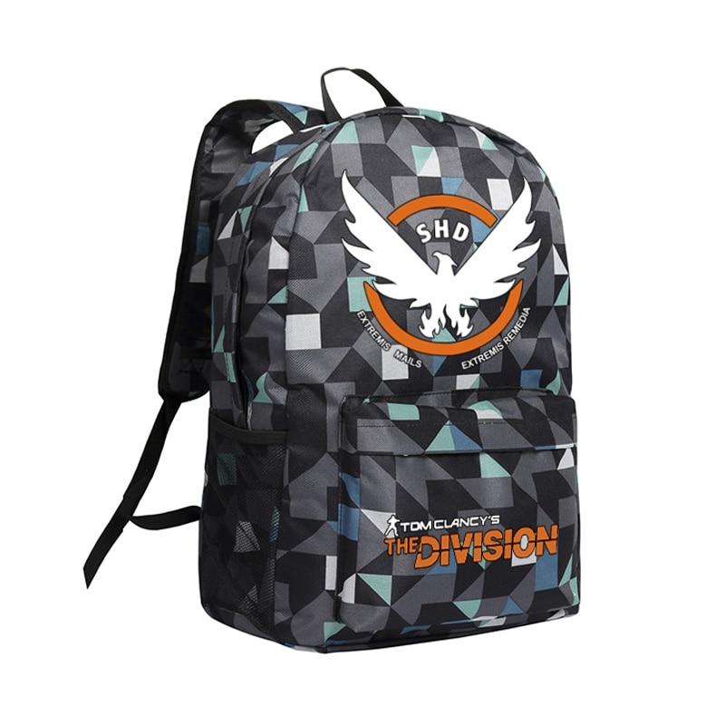 Zshop la Division sac à dos pour garçons hommes sacs pour ordinateur portable Cool PC jeu Tom Clancy la Division Camouflage sacs à dos