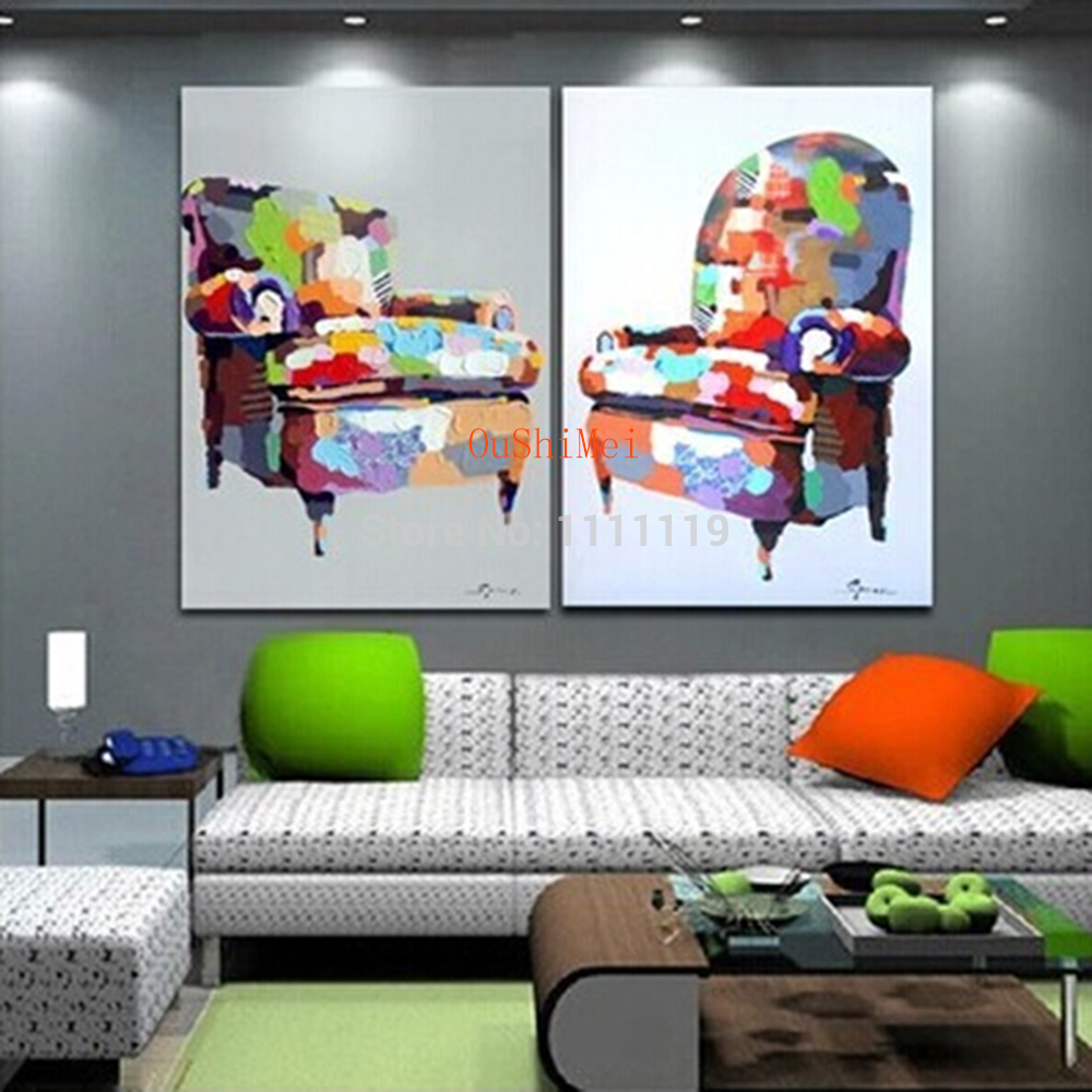 Cheap Modern Furniture Us 33 05 49 Off Handmade Cheap Picture Modern Furniture Sofa Paintings On Canvas Oil Painting Two Pcs Abstract Pictures For Living Room Decor In