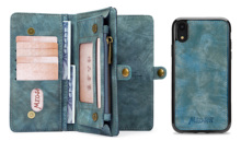 Business Wallet  Multifunctional Zipper Case Detachable Magnetic Back Cover Luxury Leather For HUAWEI MATE20 PRO
