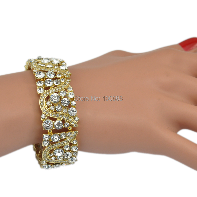 3 Warna Opsional Kristal Berlian Imitasi Gadis Peregangan Elastis - Perhiasan fashion - Foto 5